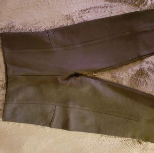 black casual high waist pant